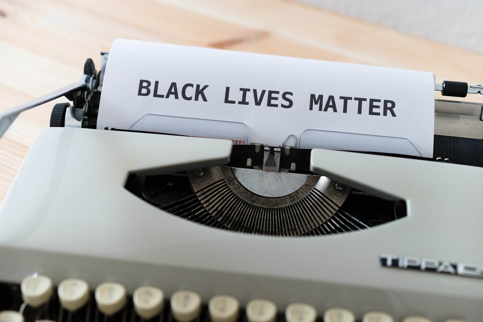 Black Lives Matter typewriter